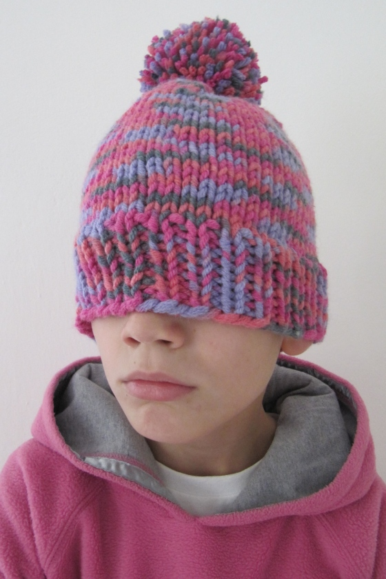 Mütze pink häkelmonster