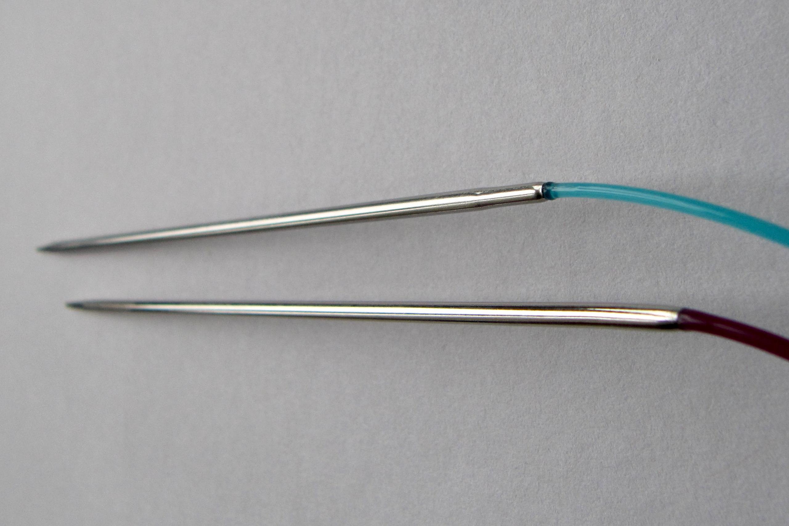 Schöner Übergang von Nadel zu Seil bei beiden.