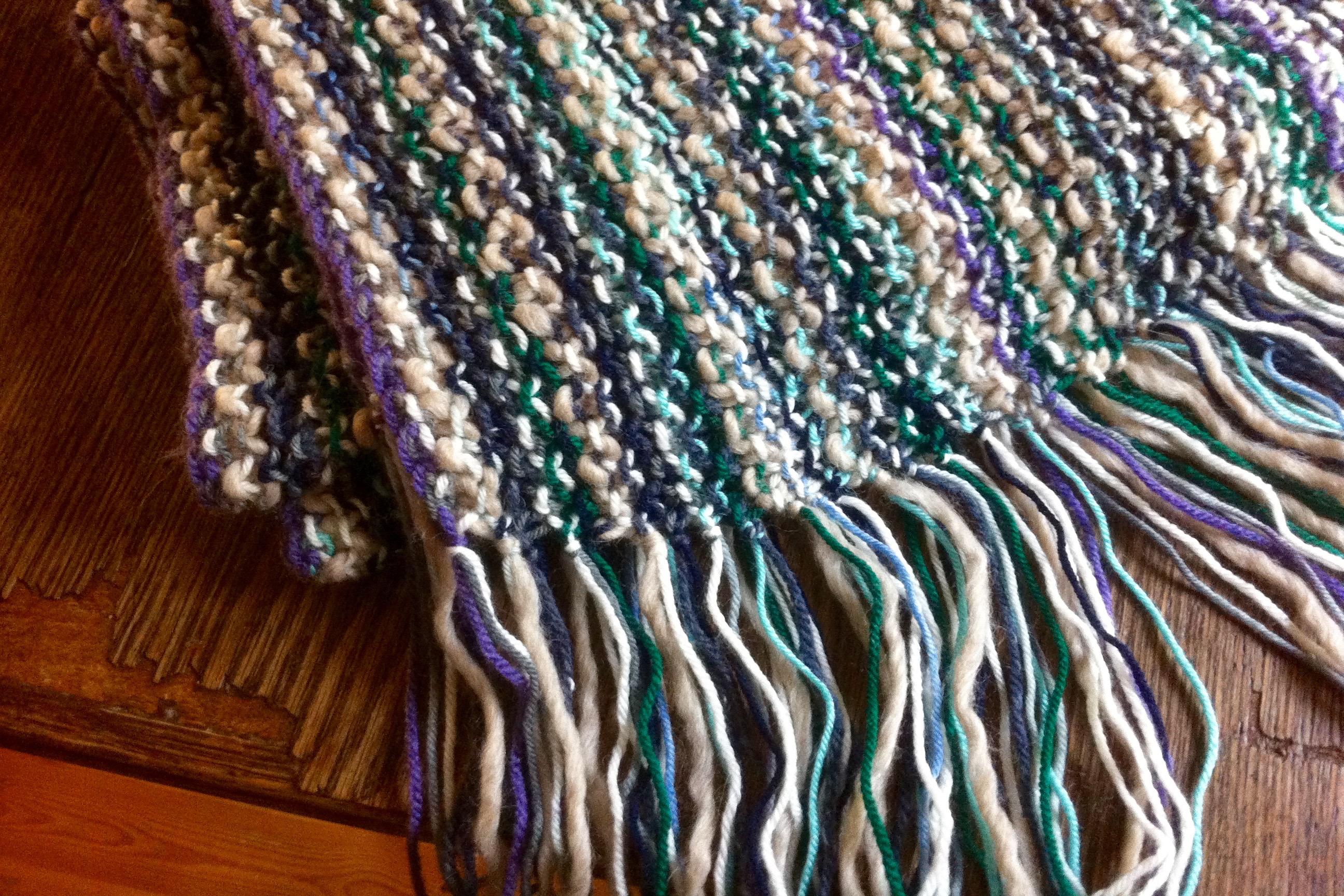 Schal aus Wollresten Häkelmonster