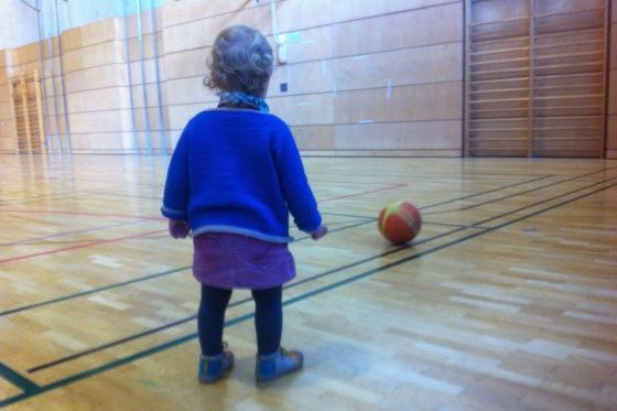 ... und natürlich war sie mit in der Halle beim Basketball :)