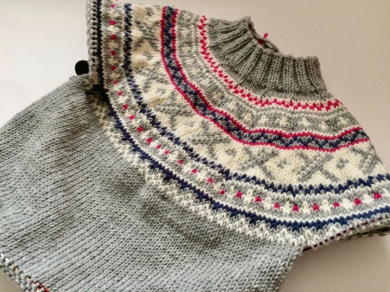 FairIsle Häkelmonster yoke sweater